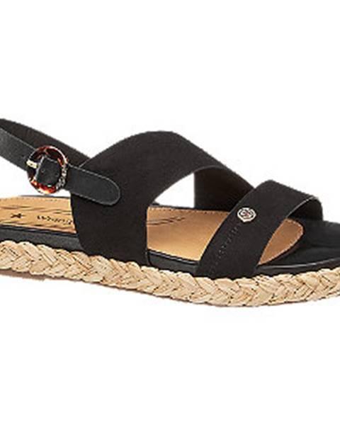 Čierne sandále Wrangler
