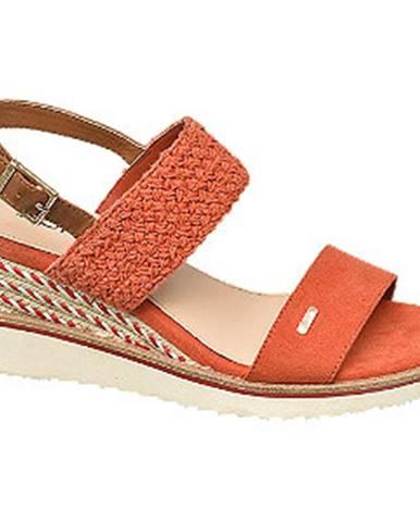 Oranžové sandále Esprit