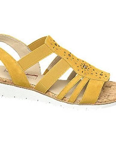 Žlté sandále Medicus