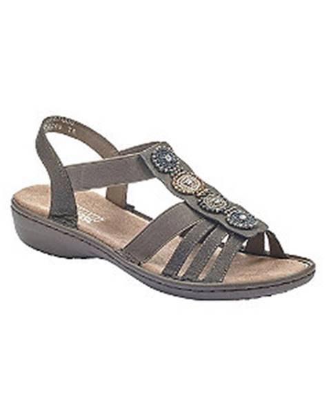 Sivé sandále Rieker