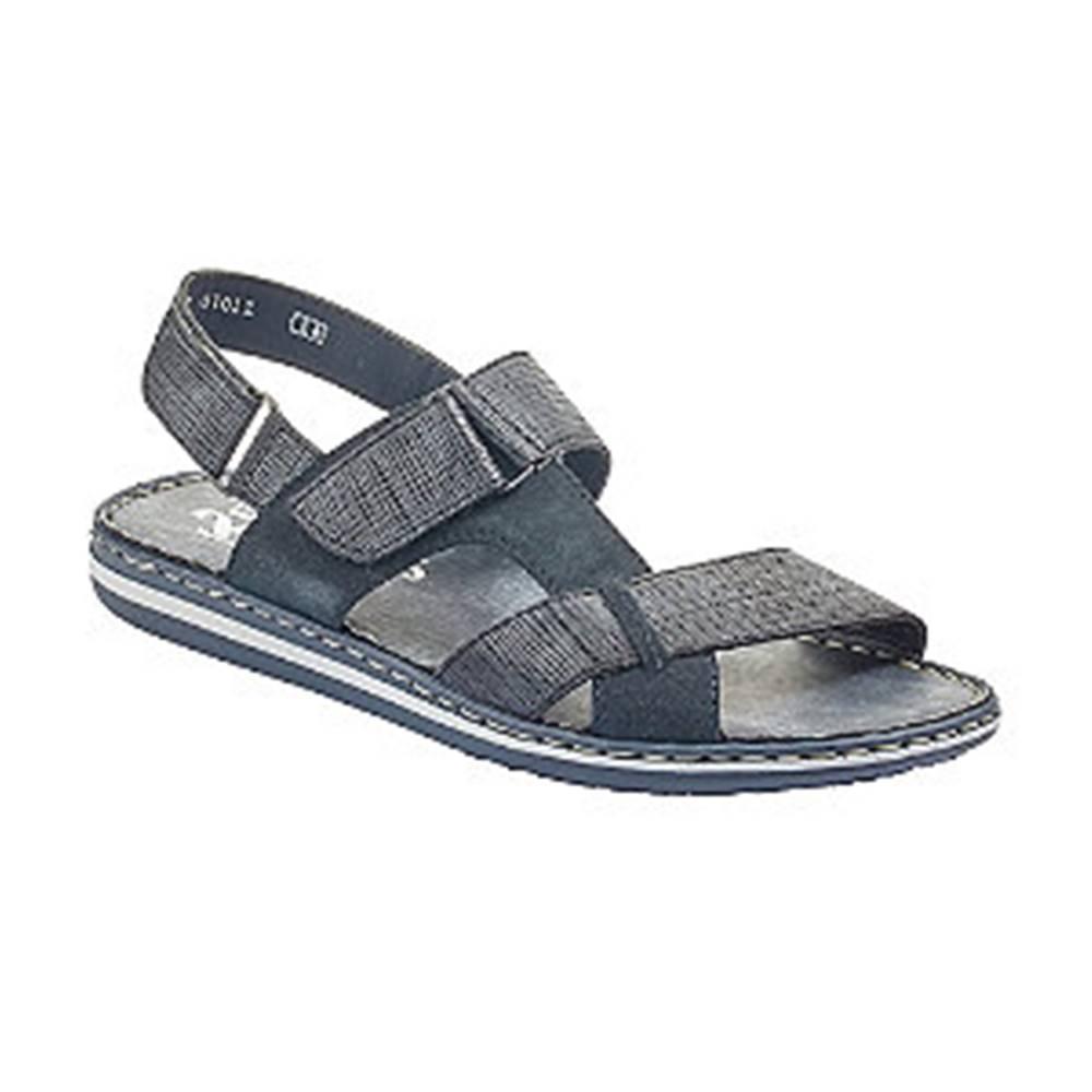 Rieker Tmavomodré komfortné sandále Rieker