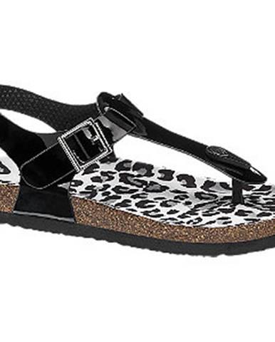 Čierne sandále Graceland