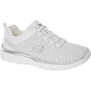Biele slip-on tenisky Skechers