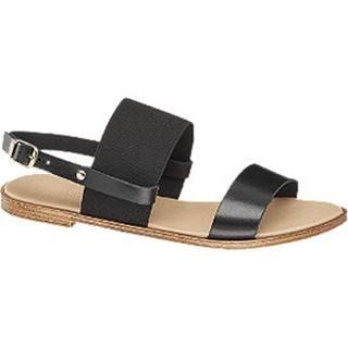 Čierne sandále Claudia Ghizzani