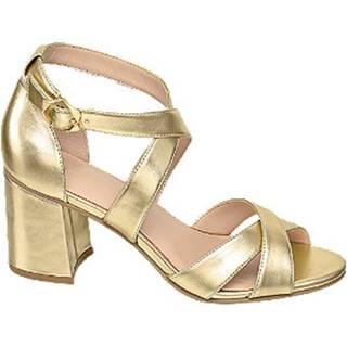 Zlaté sandále na podpätku Graceland