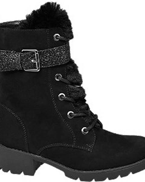 Čierna zimná obuv Graceland