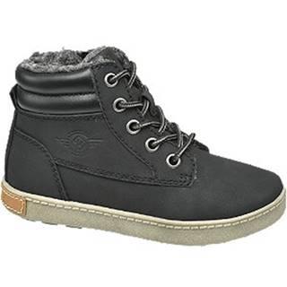 Čierna členková obuv na zips Venice
