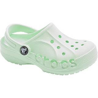 Mentolovozelené plážové sandále Crocs