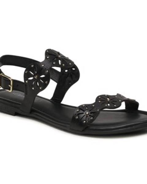 Čierne sandále s.Oliver RED LABEL