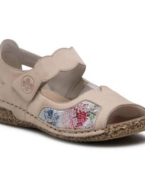 Béžové sandále Rieker