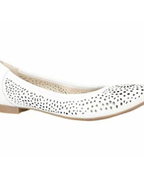 Biele balerínky Lasocki
