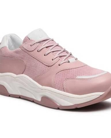 Ružové poltopánky Lasocki
