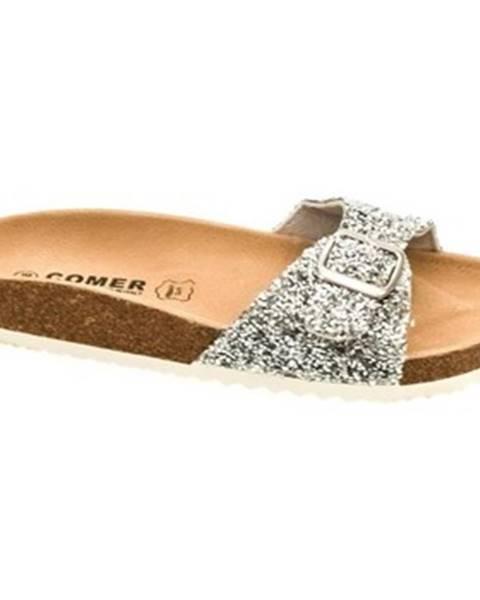 Strieborné topánky Comer