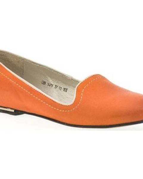 Oranžové balerínky Carinii