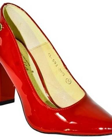 Červené lodičky Claudia