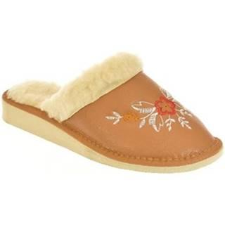Papuče John-C  Dámske hnedé papuče ELIE