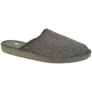 Papuče John-C  Pánske tmavo-sivé papuče TOM