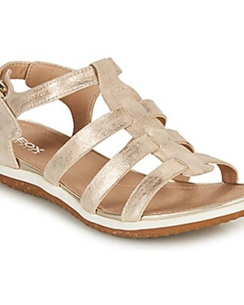 Zlaté sandále Geox