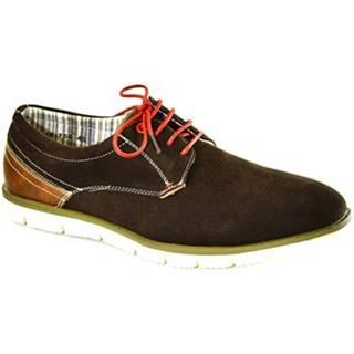 Nízka obuv do mesta Just Mazzoni  Pánske hnedé topánky KEMAL