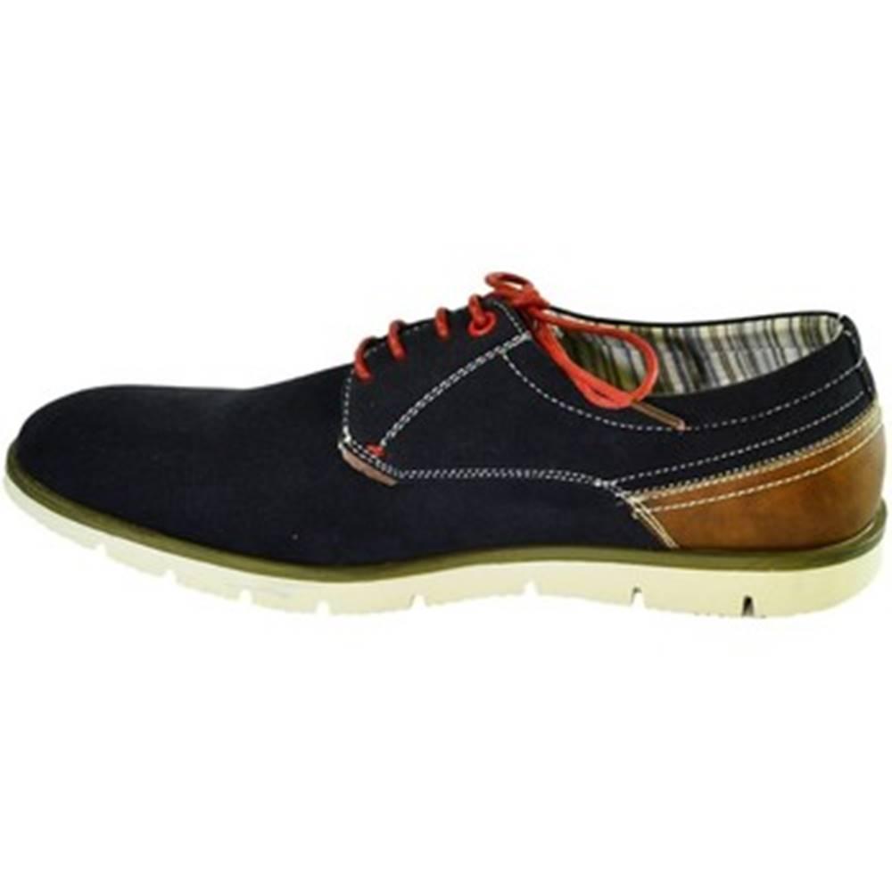Just Mazzoni Nízka obuv do mesta Just Mazzoni  Pánske tmavo-modré topánky KEMAL