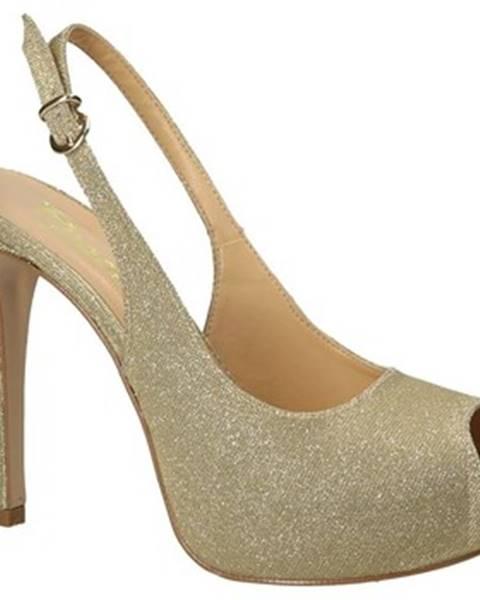 Žlté lodičky Grace Shoes