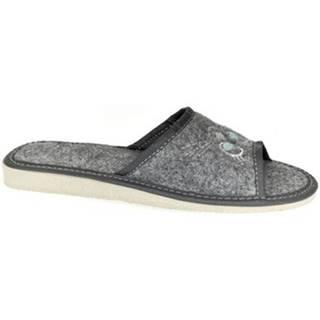Papuče John-C  Dámske sivé papuče CAT