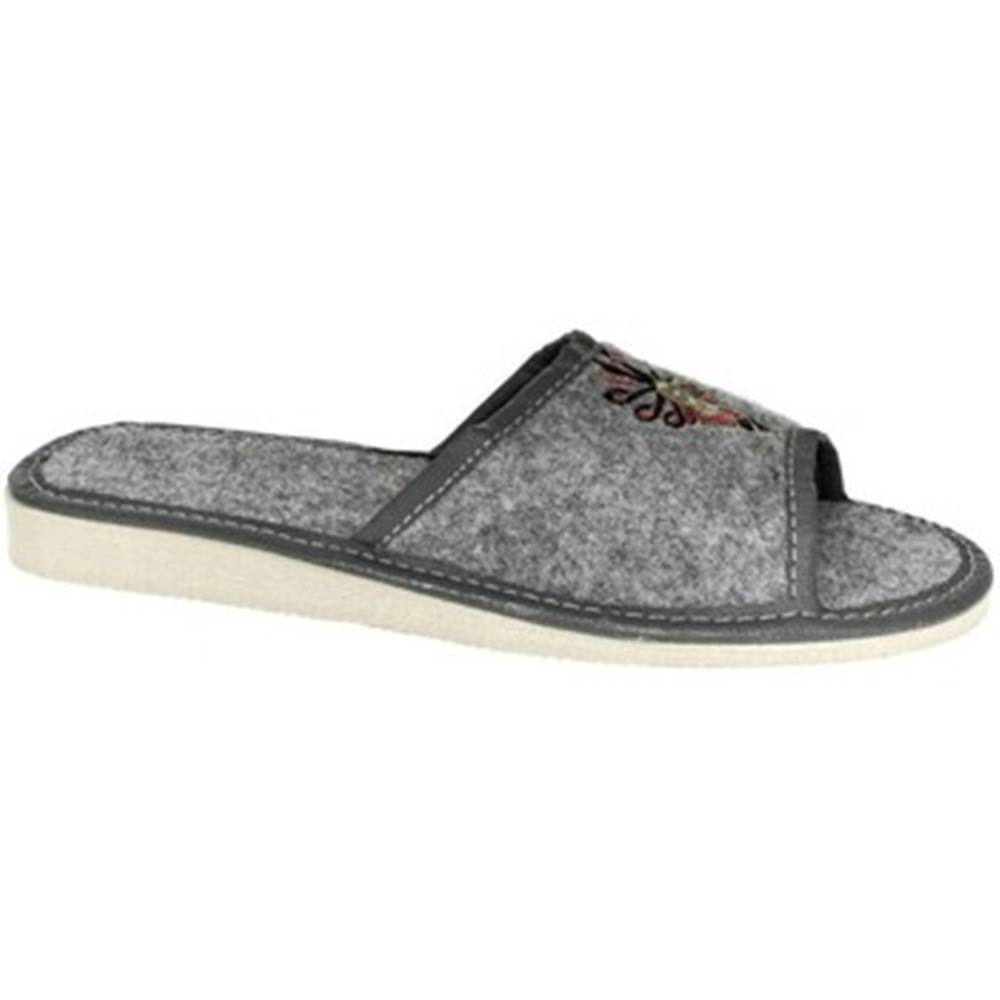 John-C Papuče John-C  Dámske sivé papuče ROXIE