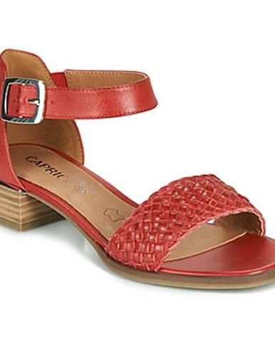 Červené sandále Caprice