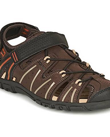 Hnedé športové sandále Geox