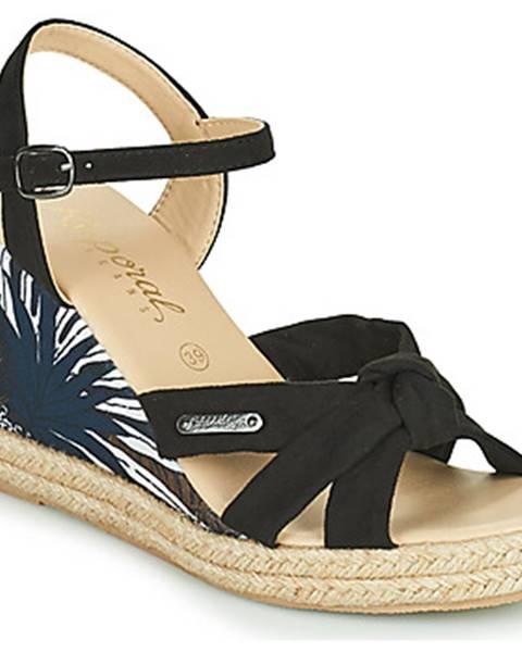 Čierne sandále Kaporal