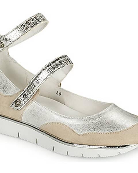Biele sandále Regard