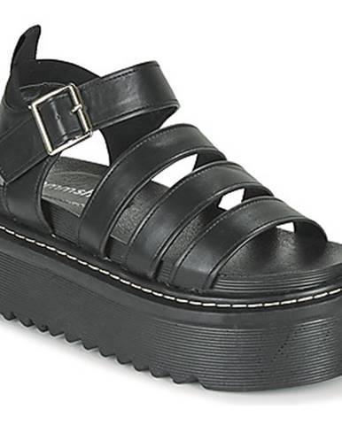 Čierne sandále Emmshu