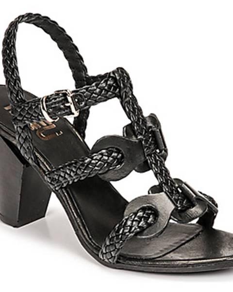 Čierne sandále Mimmu