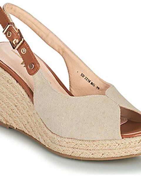 Béžové sandále Vanessa Wu