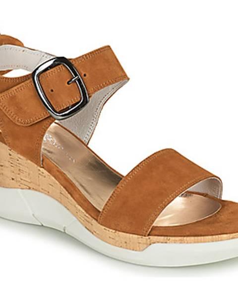 Hnedé sandále Philippe Morvan