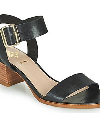 Čierne sandále San Marina