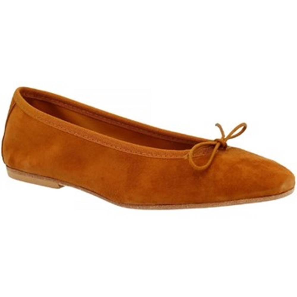 Leonardo Shoes Balerínky/Babies Leonardo Shoes  6087 CAMOSCIO BRUCIATO