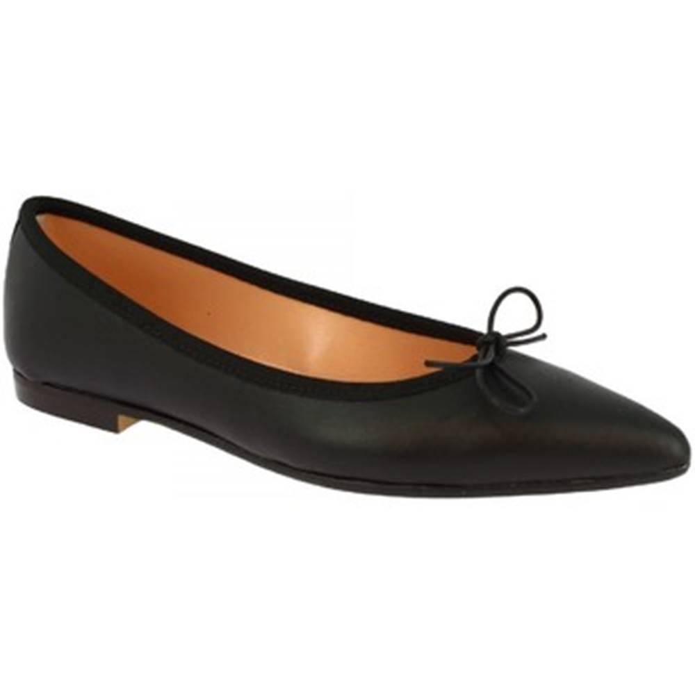 Leonardo Shoes Balerínky/Babies Leonardo Shoes  ELBA 6 NAPPA NERO