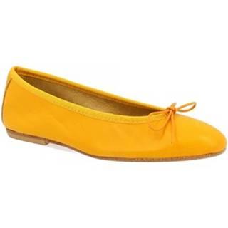 Balerínky/Babies Leonardo Shoes  6087 NAPPA GIALLO