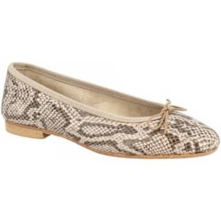 Balerínky/Babies Leonardo Shoes  6087 PITEN BEIGE
