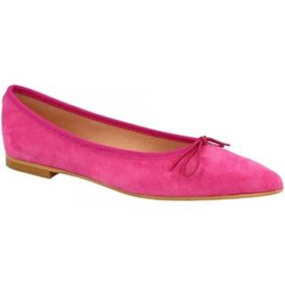 Balerínky/Babies Leonardo Shoes  NA ELBA 6 CAM FUXIA