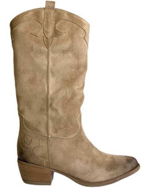Béžové čižmy Grace Shoes