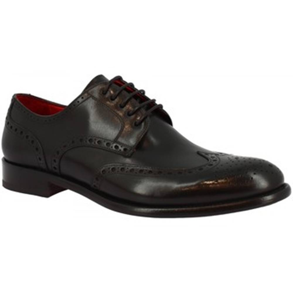 Leonardo Shoes Derbie Leonardo Shoes  7370I20 TOM MONTECARLO NERO