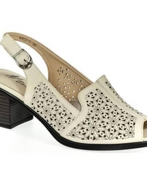 Béžové sandále Bosido