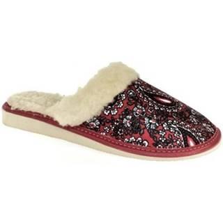 Papuče John-C  Dámske červené papuče ILDA