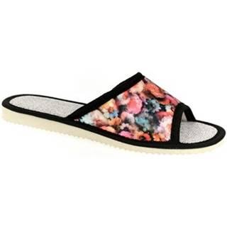 Papuče John-C  Dámske čierne papuče EMILY