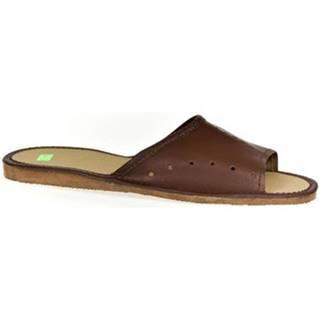 Papuče John-C  Pánske hnedé papuče TREVOR
