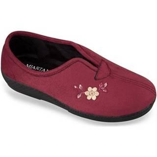 Papuče Mjartan  Dámske bordové papuče  ELENKA