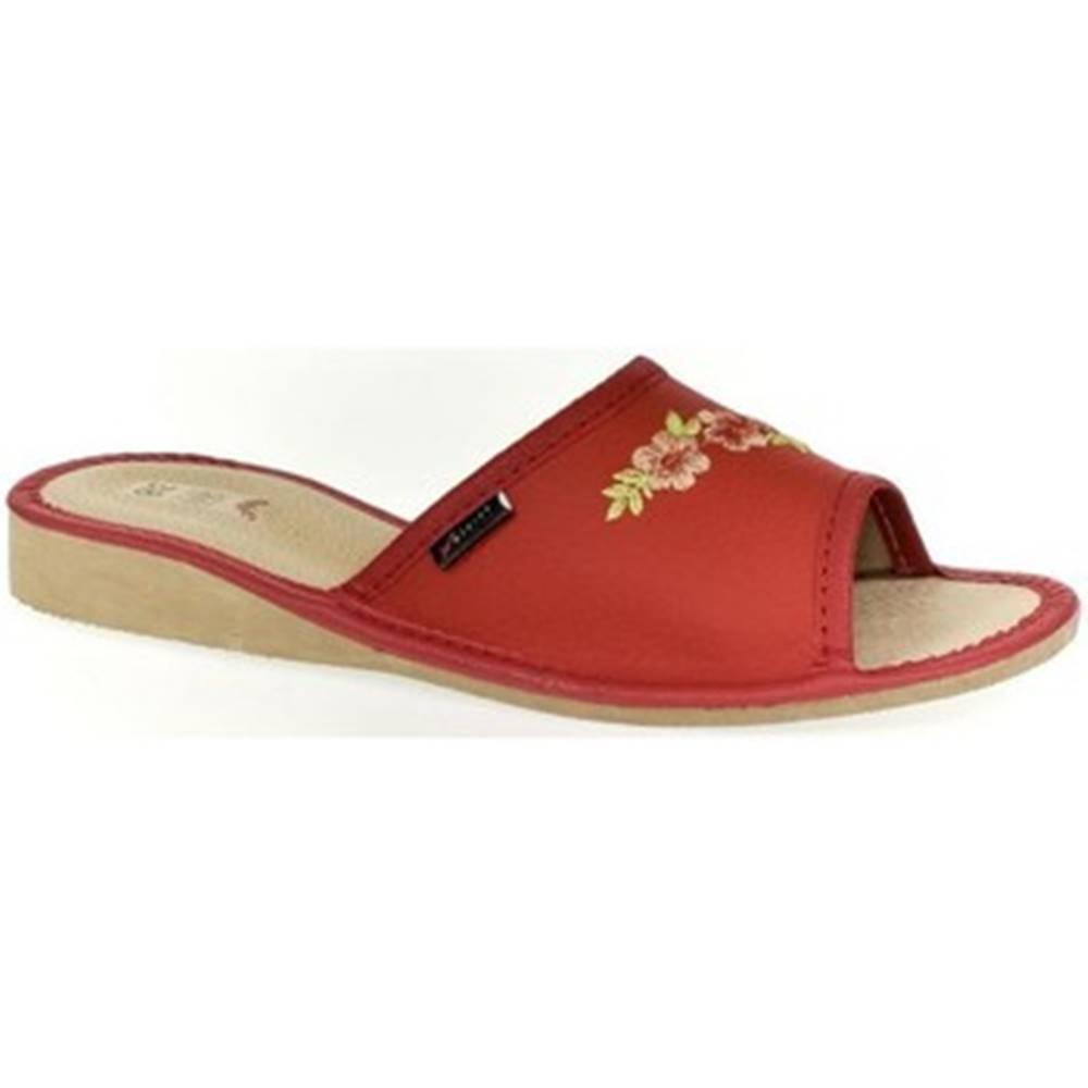 John-C Papuče John-C  Dámske červené papuče RITTA