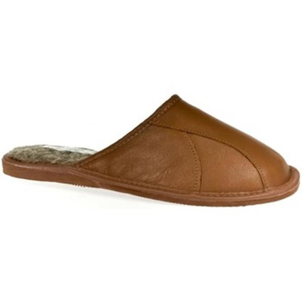 John-C Papuče John-C  Pánske hnedé papuče BOB